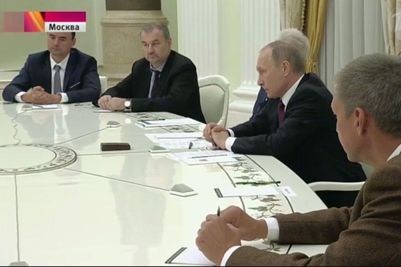 Встреча В.В. Путина с группой ученых, обладателей мегагрантов